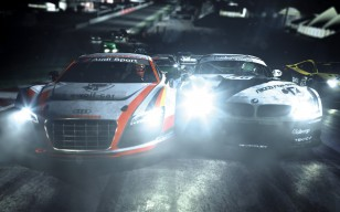 Nfs, need for speed shift 2, бмв, ауди, дорога, свет, ночь