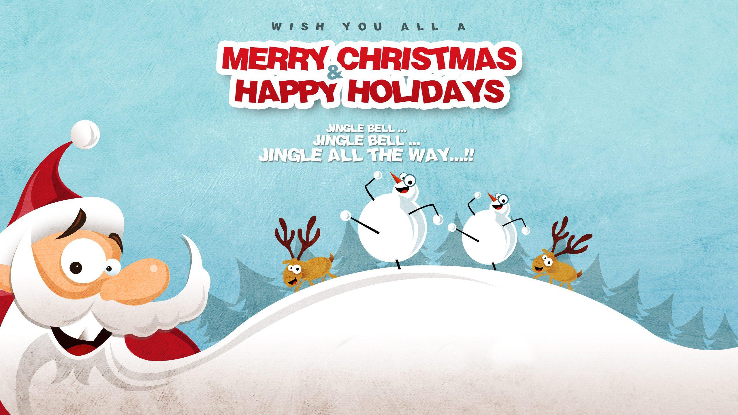 Новый год, рождество, санта клаус, олени, снеговик, зима ...