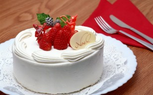Strawberry, noel, merry christmas, holiday, happy new year, creme, cake, christmas, No l, sweet обои