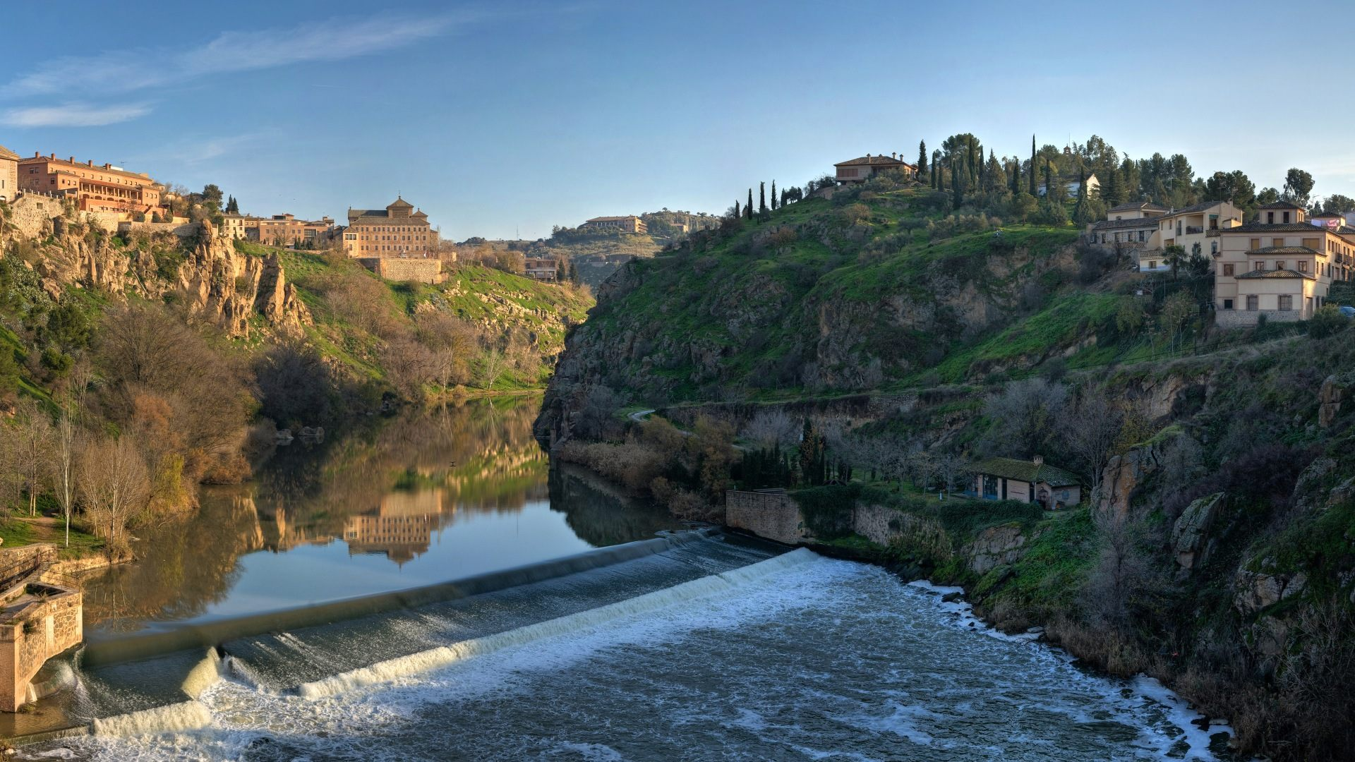 Tagus River Panorama - Toledo, Spain -(Part 2) обои, картинки, фото