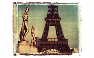 Polaroid Eiffel Tower обои
