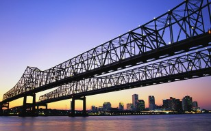 New Orleans Bridge обои 1920x1080