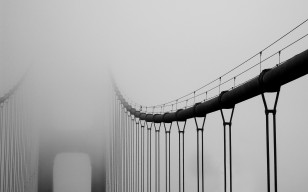 Туман, San francisco, golden gate bridge, bridge, california, city, fog, мост, город обои 2560x1600