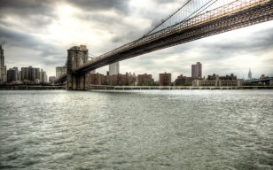 City, мост, город, bridge, нью йорк, brooklyn, New york, вода обои 2978x1861