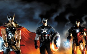 Heroes, iron man, captain america, Thor, marvel обои